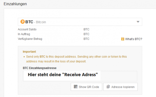 BTA auf Binance gegen Bitcoin traden