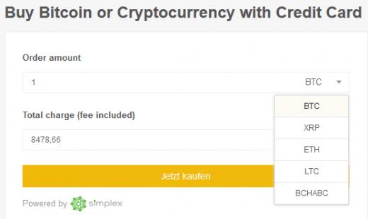 Bitcoin mit Kreditkarte kaufen Binance