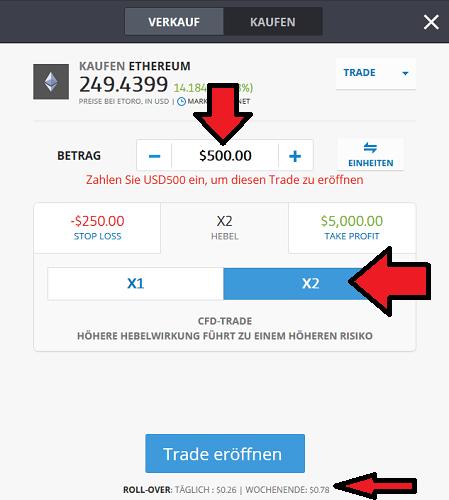 Ethereum CFD bei eToro kaufen