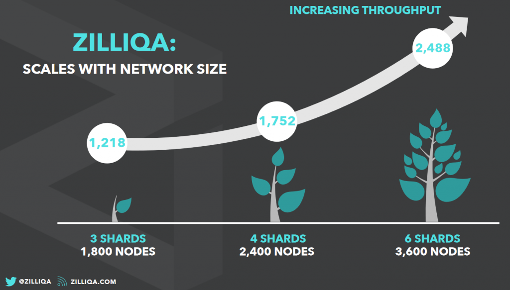 zilliqa sharding transactions per second