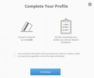 eToro Profil verifizieren