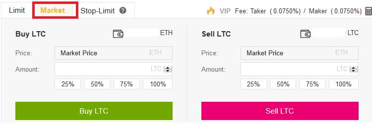 Compre o Litecoin no Binance Passo 2