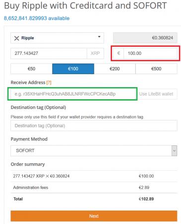 Ripple XRP kaufen auf Litebit