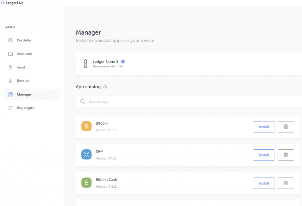 Ledger Live Manager