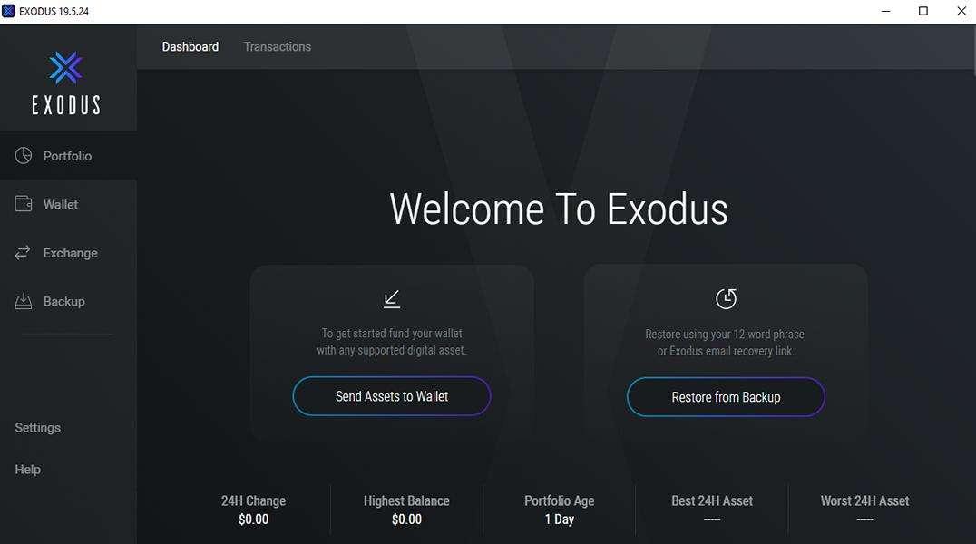 Monero Exodus Wallet Startseite