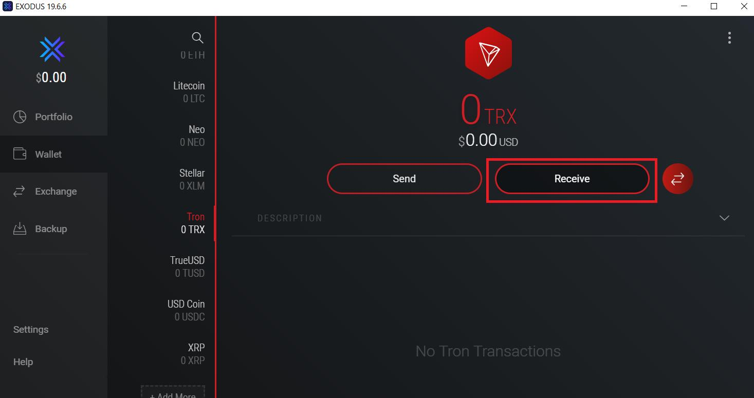 Setup TRON Wallet Step 5
