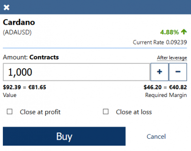 How to buy ADA CFDs