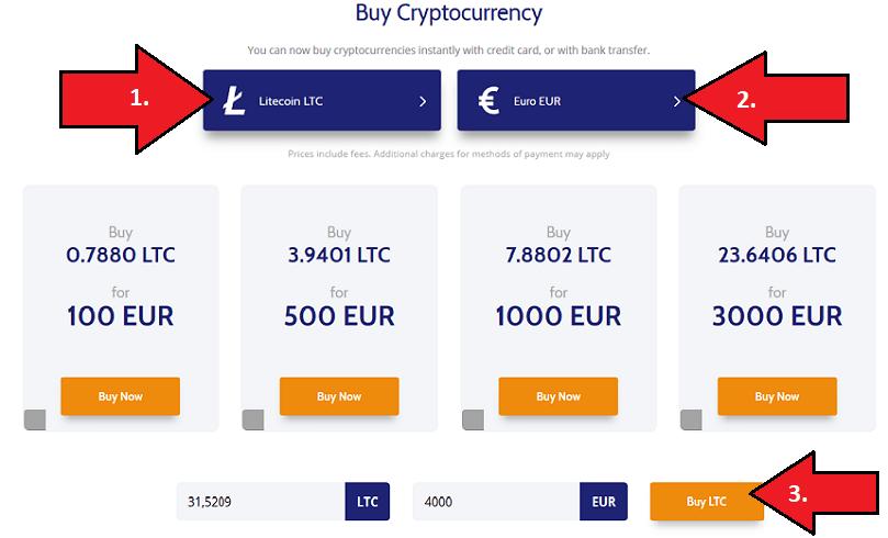 Coinmama Kryptowährungen kaufen