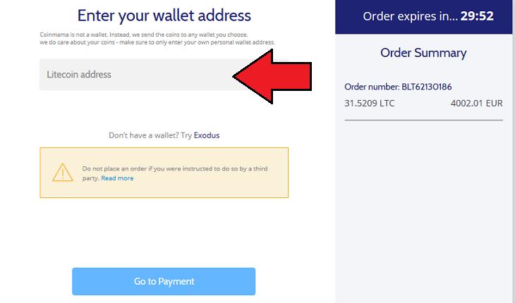 buy crypto on Coinmama