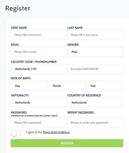 Coinmerce Registrierung
