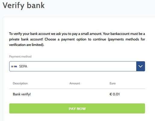 coinmerce bank verification