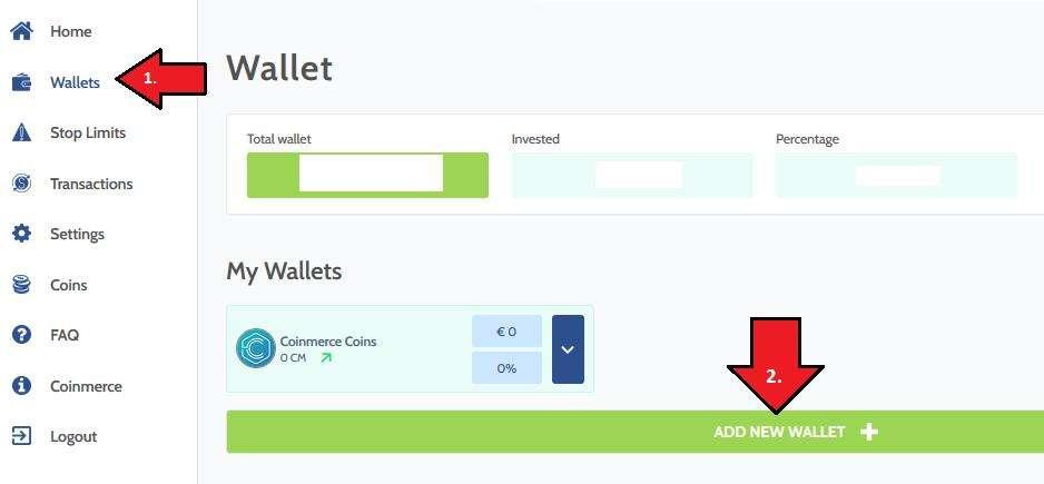 coinmerce wallet receive cryptocurrencies