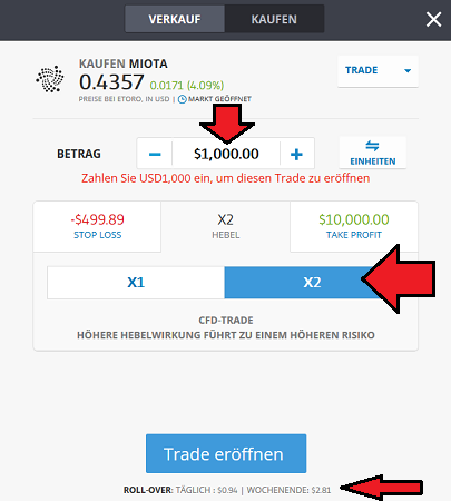 IOTA CFD auf eTroro kaufen