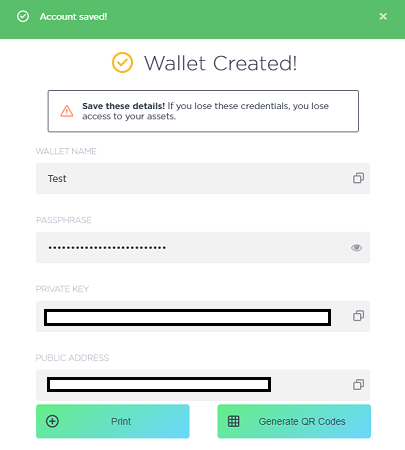 Setup NEON Wallet Step 1