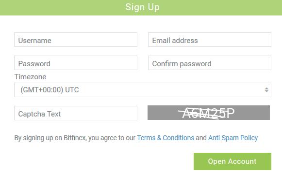 Bitcoin Gold exchange Bitfinex registration