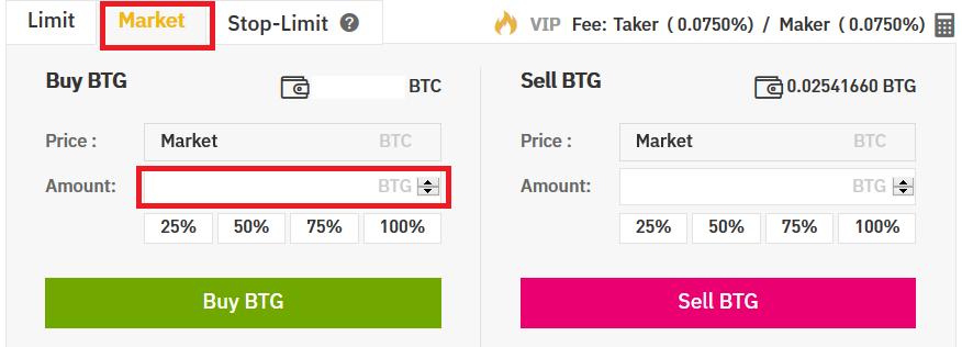 Buy Bitcoin Gold on Binance
