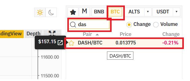 Trade Bitcoin for DASH