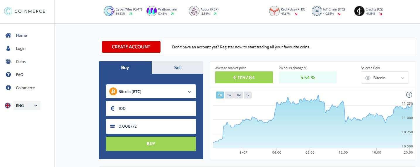 Create an account forCréer un compte client pour acheter Dogeocin sur Coinmerce