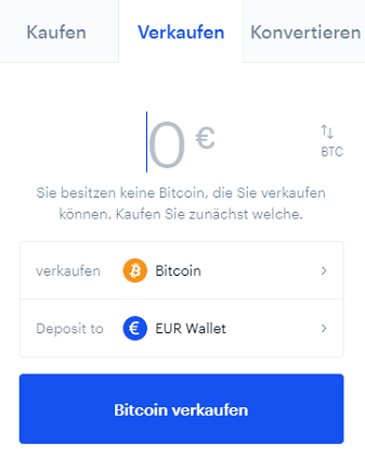 coinbase kryptowährungen verkaufen