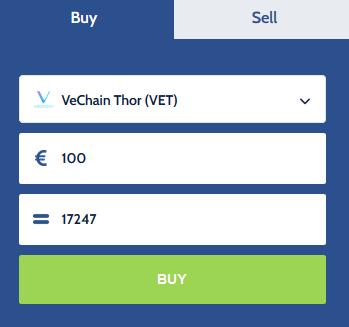 Acheter Vechain sur Coinmerce