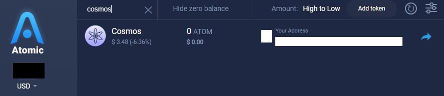 Cosmos ATOM wallet
