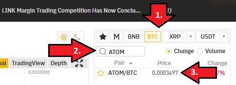 Buy ATOM on Binance