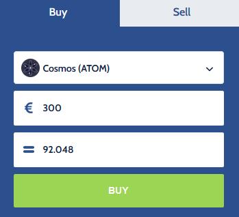 Buy cosmos ATOM
