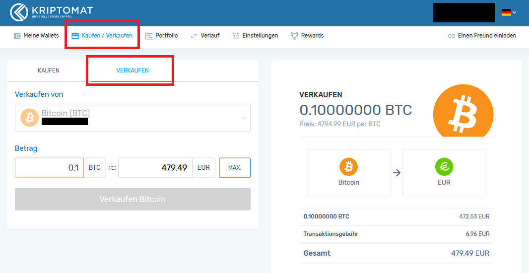 Kriptomat review Krypto verkaufen