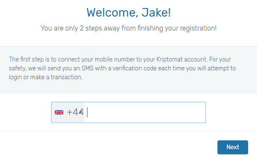 kriptomat registration review
