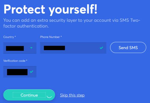 anycoin Registrierung