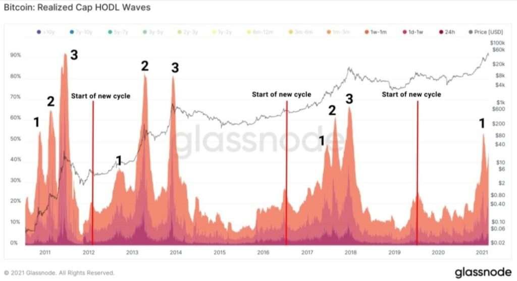Bitcoin HODL wave